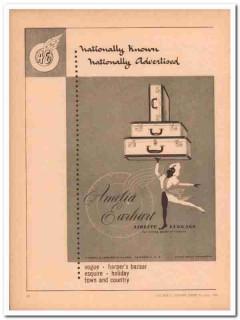 Amelia Earhart Luggage Company 1946 Vintage Ad Nationally Advertised