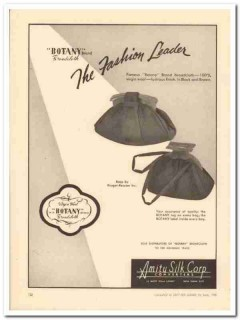 amity silk corp 1946 botany kruger-ressner fashion handbags vintage ad