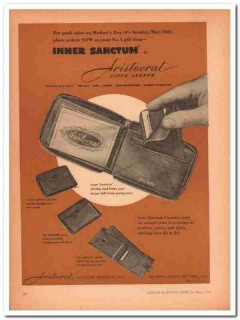 Aristocrat Leather Products Inc 1946 Vintage Ad Wallet Mothers Day