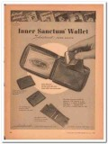 Aristocrat Leather Products Inc 1946 Vintage Ad Wallet Inner Sanctum