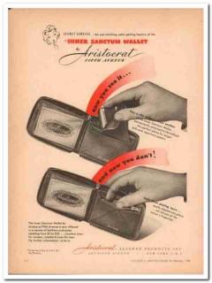 Aristocrat Leather Products Inc 1946 Vintage Ad Wallet Secret Service