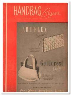 art-flex fashions inc 1946 flowered plastic cover handbag vintage ad