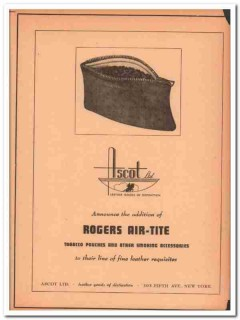 Ascot Ltd 1946 Vintage Ad Leather Tobacco Pouch Rogers Air-Tite