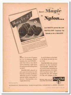 Atlantic Products Corp 1946 Vintage Ad Luggage Travel-Pak Magic Nylon