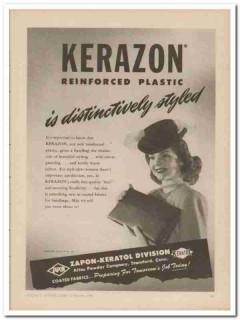 atlas powder company 1946 distinctively kerazon handbag vintage ad
