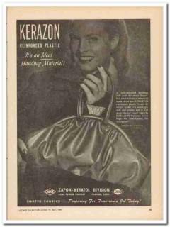 atlas powder company 1946 ideal material kerazon handbag vintage ad