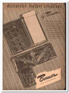 Benner Leather Goods Company 1946 Vintage Ad Wallet Distinctive