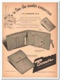 Benner Leather Goods Company 1946 Vintage Ad Wallet Comparison First