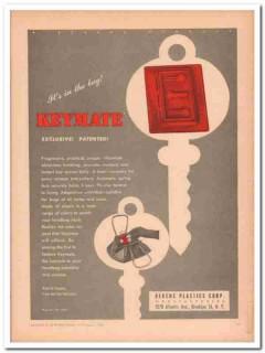 berens plastic corp 1946 keymate exclusive patented handbag vintage ad