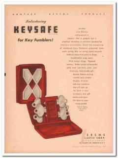 berens plastic corp 1946 keysafe key fumblers case handbag vintage ad