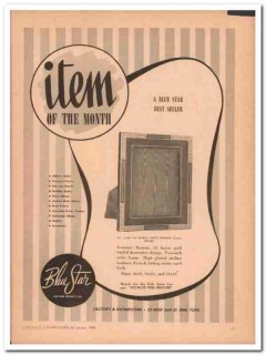 Blue Star Leather Novelty Company 1946 Vintage Ad Gold Easel Frame