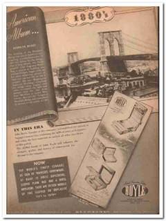 Boyle Leather Goods Company 1946 Vintage Ad Luggage Brooklyn Bridge