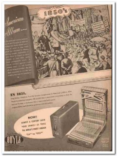 Boyle Leather Goods Company 1946 Vintage Ad Luggage Abraham Lincoln
