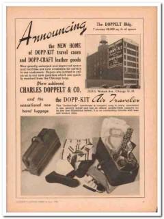 Charles Doppelt Company 1946 Vintage Ad Leather Dopp-Kit New Home