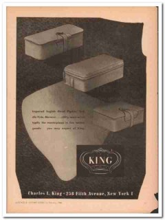 Charles L King Company 1946 Vintage Ad Luggage Imported Utility Cases