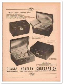 Classy Novelty Corp 1946 Vintage Ad Luggage Imitation Better Buys