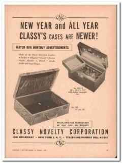 Classy Novelty Corp 1946 Vintage Ad Leather Cases Imitation New Year