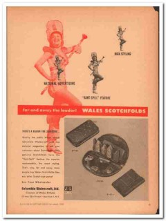 Columbia Walescraft Ltd 1946 Vintage Ad Leather Purse Wales Scotchfold