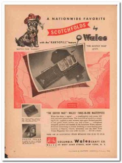 Columbia Walescraft Company 1946 Vintage Ad Leather Purse Scotch Wad