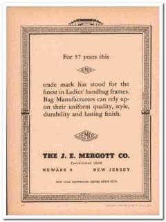 j e mergott company 1946 jemco 57 years handbag frames vintage ad
