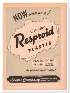 lentex company 1946 now available resproid plastic handbag vintage ad