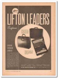 Lifton Mfg Company 1946 Vintage Ad Brief Cases Genuine Cowhide Leaders
