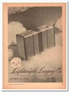 Lightweight Luggage Company 1946 Vintage Ad Manufacturers Finest
