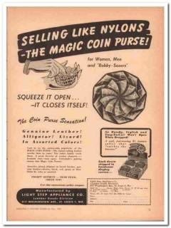 Light Step Appliance Company 1946 Vintage Ad Leather Magic Coin Purse