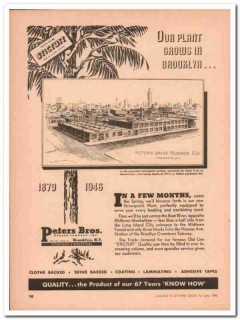 peters bros rubber company 1946 stictuit backing handbag vintage ad