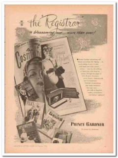 Prince Gardner Inc 1946 Vintage Ad Leather Billfolds Women Registrar