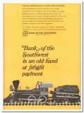 bank of the southwest 1967 freight payment team cut costs vintage ad