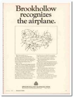 brookhollow business park 1967 recognizes airplane houston vintage ad