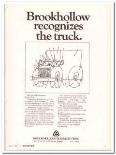 brookhollow business park 1967 recognizes truck houston vintage ad