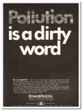 brown and root inc 1967 pollution dirty word water quality vintage ad