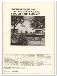 butler mfg company 1967 put up building use pert timetable vintage ad