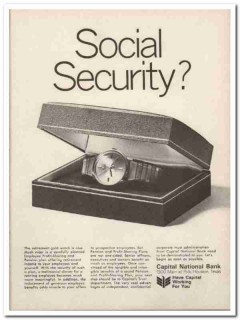 capital national bank 1967 social security profit sharing vintage ad