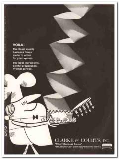clarke courts inc 1967 viola finest quality business forms vintage ad