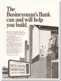 houston national bank 1967 businessman real estate loan vintage ad