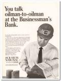 houston national bank 1967 petroleum oilman businessman vintage ad