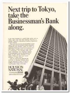 houston national bank 1967 tokyo businessman international vintage ad