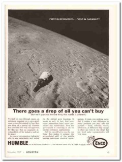 Humble Oil Refining Company 1967 Vintage Ad ENCO Resources Space
