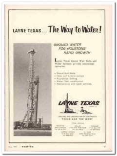 layne texas company 1967 ground water gravel wall well vintage ad
