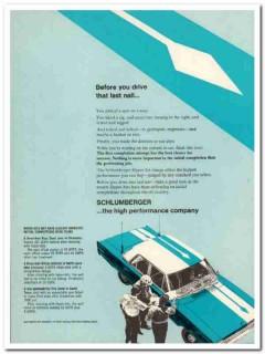 Schlumberger 1967 Vintage Ad Oil Completion High Performance Hyper-Jet
