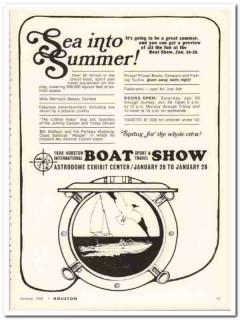 houston international boat show 1968 sea summer astrodome vintage ad