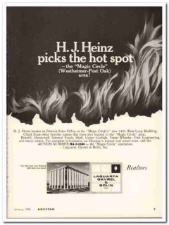 laguarta gavrel bolin inc 1968 hj heinz houston real estate vintage ad