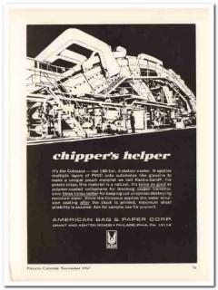 american bag paper company 1967 potato chipper helper food vintage ad