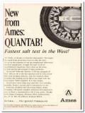 ames company 1967 quantab chloride titrator salt test food vintage ad