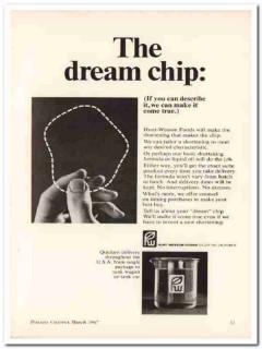 hunt-wesson foods inc 1967 dream chip shortening snack food vintage ad