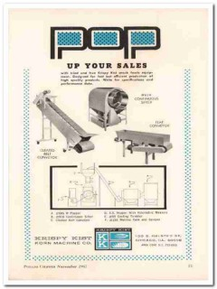 krispy kist korn machine company 1967 snack food equipment vintage ad