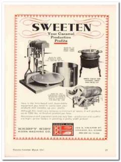 krispy kist korn machine company 1967 sweeten caramel vintage ad
